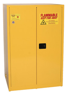 90 Gallon Flammable Liquid Safety Cabinet, Manual Close Doors, Yellow, Eagle 1992