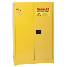 45 Gallon Flammable Liquid Safety Cabinet, Self Close Doors, Yellow, Eagle 4510