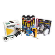 6 24oz Cans of DOW GREAT STUFF PRO Window & Door 1 FROTH PAK 12 1 Infrared Thermometer 1Foam Pro Gun Safety Goggles Respirator