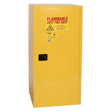 60 Gallon Flammable Liquid Safety Cabinet, Single Door, Self Close, Yellow, Eagle 6110