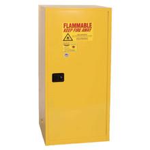 60 Gallon Flammable Liquid Safety Cabinet, Single Door, Self Close, Yellow, Eagle 6110