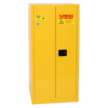 60 Gallon Flammable Liquid Safety Cabinet, Self Close Doors, Yellow, Eagle 6010
