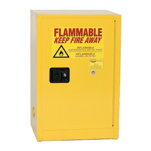 12 Gallon Flammable Liquid Safety Cabinet, Self Close Door, Yellow, Eagle 1924