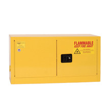 15 Gallon Flammable Liquid Safety Cabinet, Self Close Door, Yellow, Eagle ADD 14