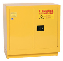 22 Gallon Flammable Liquid Safety Cabinet, Under Counter, Self Close Door, Yellow, Eagle 1970