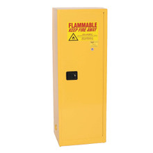 24 Gallon Flammable Liquid Safety Cabinet, Self Close Door, Yellow, Eagle 2310