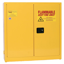 24 Gallon Flammable Liquid Safety Cabinet, Wall Mount, Self Close Door, Yellow, Eagle 1975
