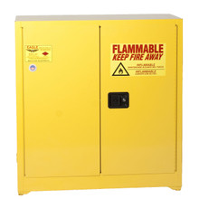 30 Gallon Flammable Liquid Safety Cabinet, Sliding Self Close Door, Yellow, Eagle 1930