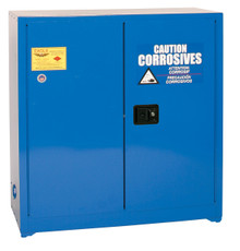 30 Gallon Acid & Corrosive Safety Cabinet Self Close Doors Eagle Model CRA-3010