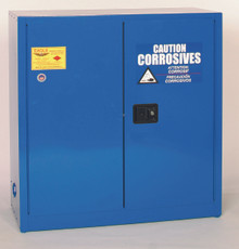 30 Gallon Acid & Corrosive Safety Cabinet Sliding Self Close Door Eagle Model CRA-30