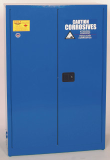 45 Gallon Acid & Corrosive Safety Cabinet, Sliding Self Close Door, Blue, Eagle CRA-45