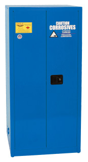 60 Gallon Acid & Corrosive Safety Cabinet, Manual Close Doors, Blue, Eagle CRA-62