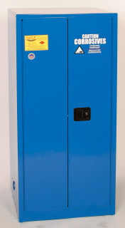 60 Gallon Acid & Corrosive Safety Cabinet, Self Close Doors, Blue, Eagle CRA-6010