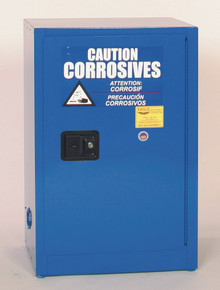 12 Gallon Acid & Corrosive Safety Cabinet, Manual Close Doors, Blue, Eagle CRA-1925