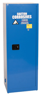 24 Gallon Acid & Corrosive Safety Cabinet, Self Close Door, Blue, Eagle CRA-2310