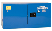 15 Gallon Acid & Corrosive Safety Cabinet, Bench Top, Self Close Doors, Blue, Eagle ADD-CRA14