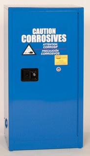 16 Gallon Acid & Corrosive Safety Cabinet, Self Close Door, Blue, Eagle CRA-1905