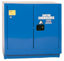 22 Gallon Acid & Corrosive Safety Cabinet, Under Counter, Self Close Door, Blue, Eagle CRA-70