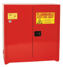 40 Gallon Paint & Ink Safety Cabinet, Sliding Self Close Door, Red, Eagle PI-30