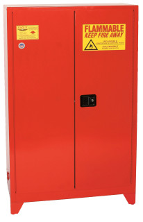 60 Gallon Paint & Ink Safety Cabinet, Manual Close Door, Red, Eagle PI-47LEGS