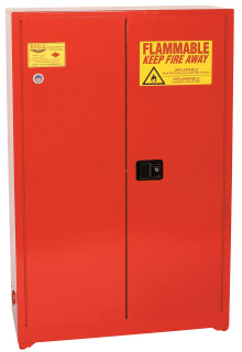30 Gallon Paint & Ink Safety Cabinet, Self Close Door, Red, Eagle PI-7710