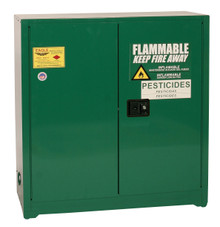 30 Gallon Pesticide Safety Cabinet, Manual Close Doors, Green, Eagle PEST32