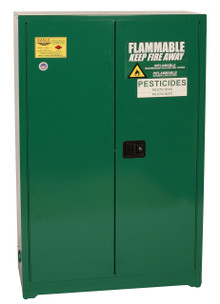 45 Gallon Pesticide Safety Cabinet, Manual Close Doors, Green, Eagle PEST47