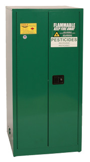 60 Gallon Pesticide Safety Cabinet, Manual Close Doors, Green, Eagle PEST62