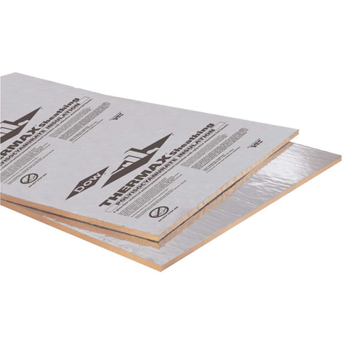 Dow Thermax Sheathing Foil Faced 0 5 In R 3 3 4 X8 Sheet
