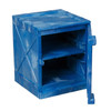 The 4 Gallon Cabinet features 2 adjustable shelves, and a lockable door that can be hinged on the right or left.
