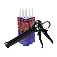 Contents: Pro Caulk Gun, 6 Cartridges PL 400 Adhesive