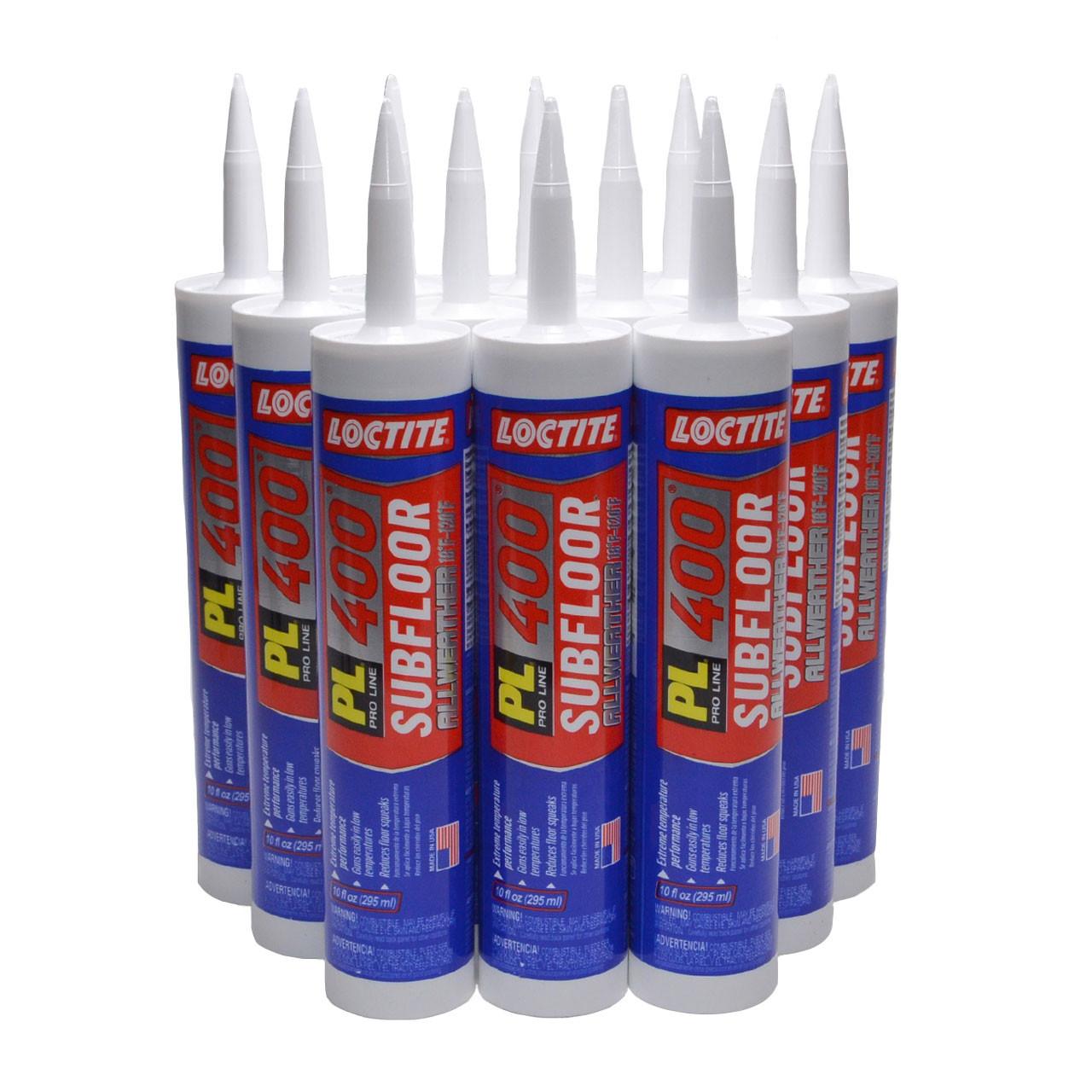 Loctite PL 400 Subfloor All Weather Adhesive, 10 oz, Full Case