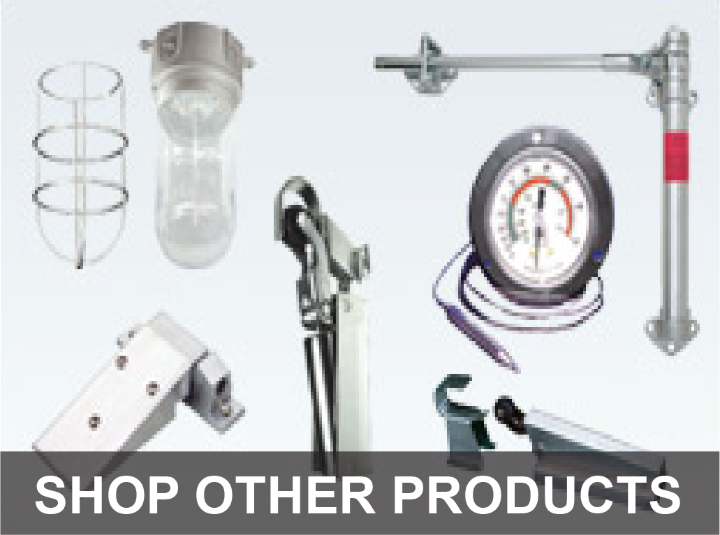 Commercial cooler and freezer hardware