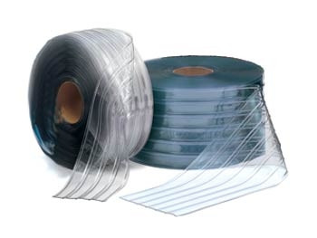 """RIBBED - 8"""" Strip Curtain Roll - Cooler"""
