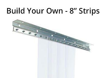 Build Your Own 8 Strip Curtain Kit Refrigeration Gaskets Made