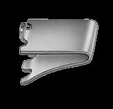 Kason Shelf Clip - 0067 Smooth Stainless
