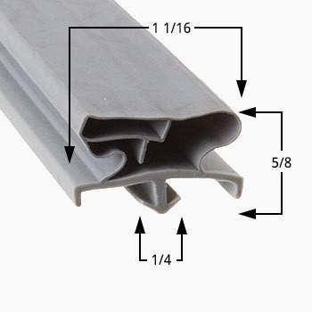 Traulsen Gasket 22 3/4 x 59 3/4-RE232-SVC-60256-00 2