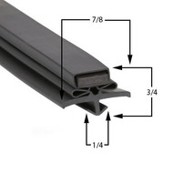 Profile 017 - Custom Hot-Side Upright Door Gasket