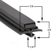 Profile 017 - Custom Hot-Side Undercounter Door Gasket