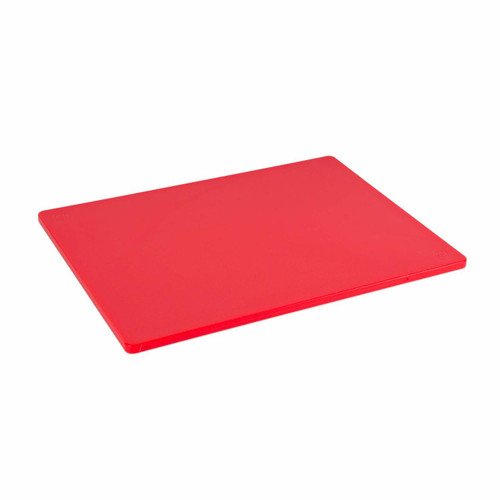 12 x 18 Standard Economy Red Poly Cutting Board