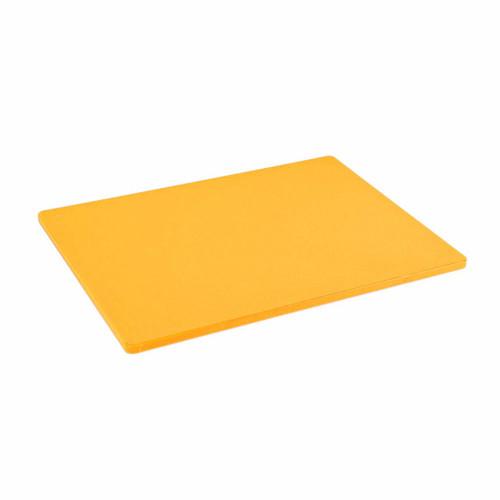 18 x 24 Standard Economy Yellow Poly Cutting Board