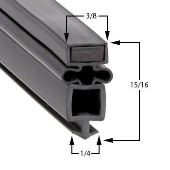 Gasket-24-3/8 -x-41-3/4-4s-True-Mfg-955896