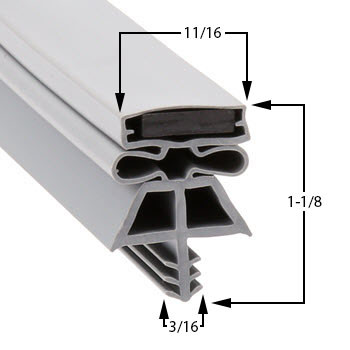 Vollrath-Gasket-36-x-78-4-Sided-22525-1075-1