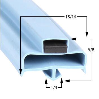 Delfield-Gasket-7-5/16-x-29-3/16-170-1062-1701062-17-151-1