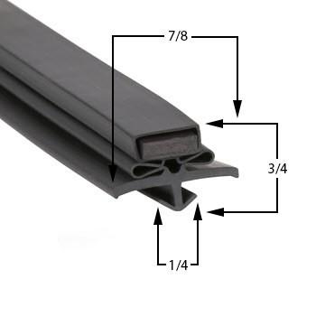 True-Mfg-810441-Gasket-18-5/8-x-40-5/8-810441-GDM35SLRF-GDM-35SL-RF-61-436-GDM-35SL-RF-GDM35SLRF-1