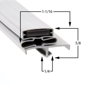 Delfield-Gasket-24-1/2-x-9-1702332-Drawer-Gasket-1