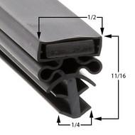 Traulsen-Gasket-22-3/4-x-59-3/4-Profile-504-60-379-G21010R-SG21010-1