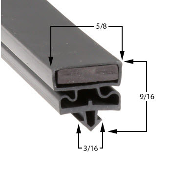 Delfield-Gasket-23-x-59-3/8-17-457-1701341-6025XLG-6025XLGR-6051XLGR-6076XLG-6076XLGR-6125XLG-6125XLGR-6151XLG-6151XLGR-6176XLG-6176XLGR-6051XLG-170-1341-1