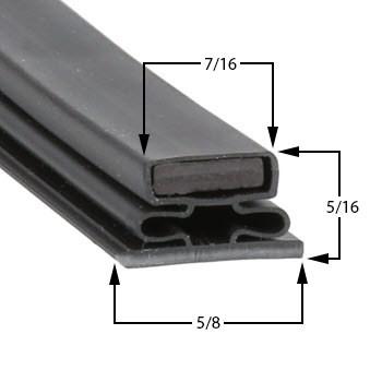 Ardco Gasket 28 1 4 X 59 3 4 Refrigeration Gaskets Made
