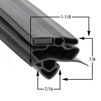 True-Mfg-947747-Gasket-25-3/4-x-54-947747-GDM-19T-GDM-23-1